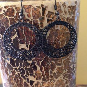Gunmetal dangling earrings